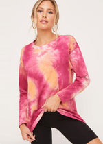 Mauve Tie Dye Long Sleeve