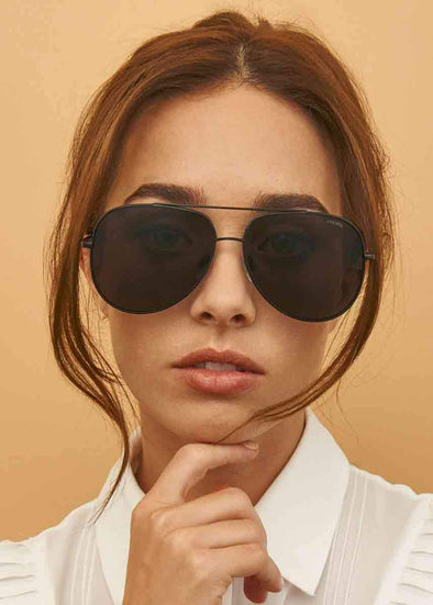Max Matte Black Aviator Sunnies