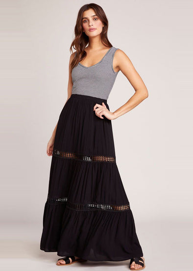 Always Right Maxi Skirt - Black