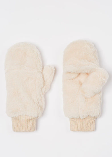 Baby, It's Cold Outside Plush Mitten - Ivory