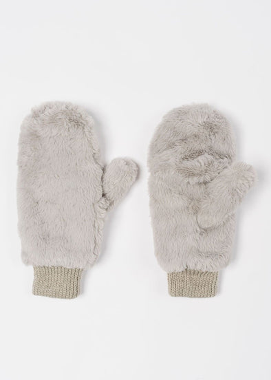 Baby, It's Cold Outside Plush Mitten - Light Grey