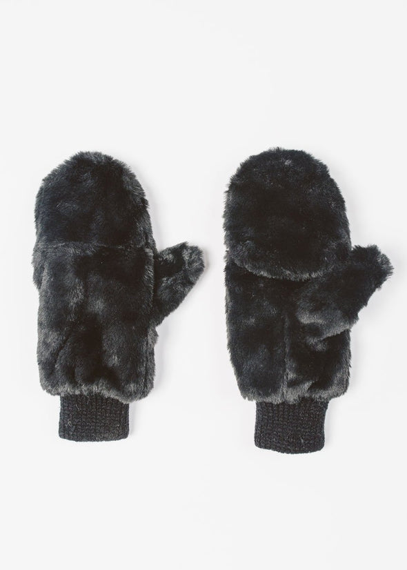 Baby, It's Cold Outside Plush Mitten - Black