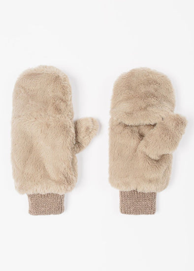 Baby, It's Cold Outside Plush Mitten - Taupe