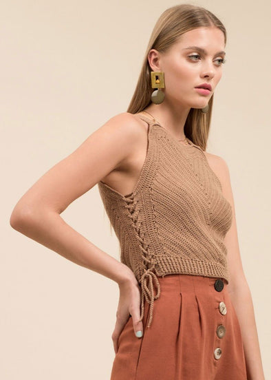Taupe Knit Tank