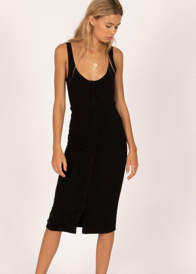 Morning Market Midi Dress - Black