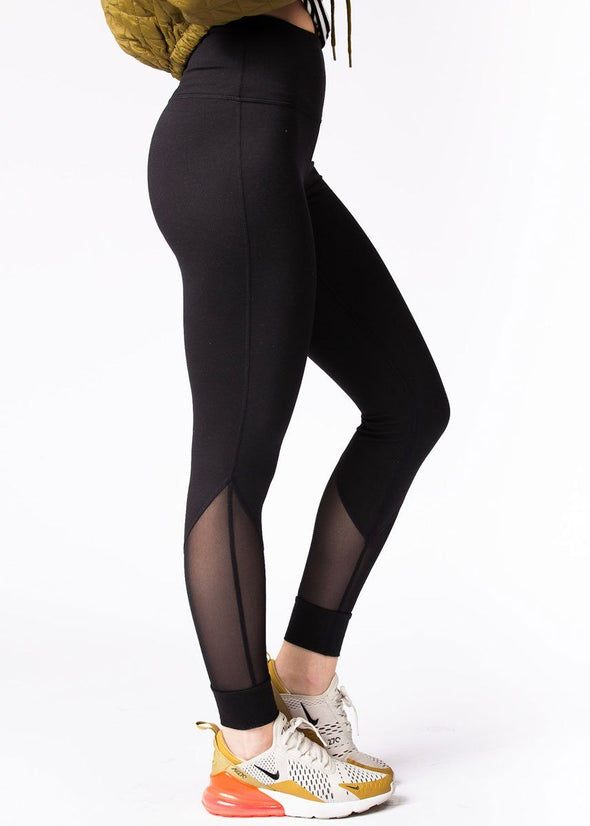Highwaist Slanted Mesh Full Leggings