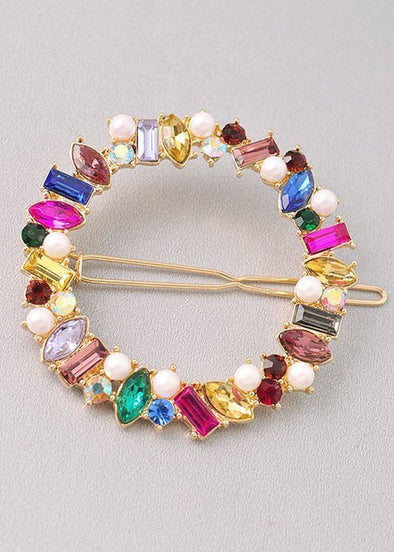 Ari Multi Gem Hair Clip