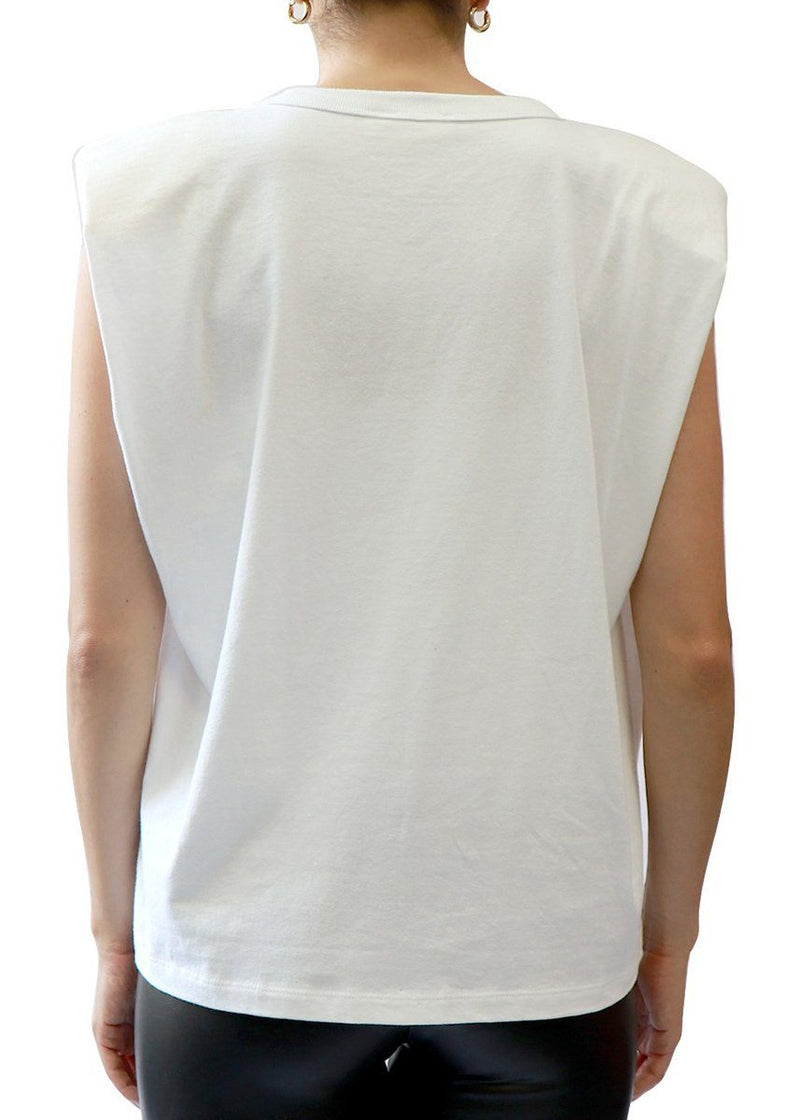 Padded Muscle Tee - White