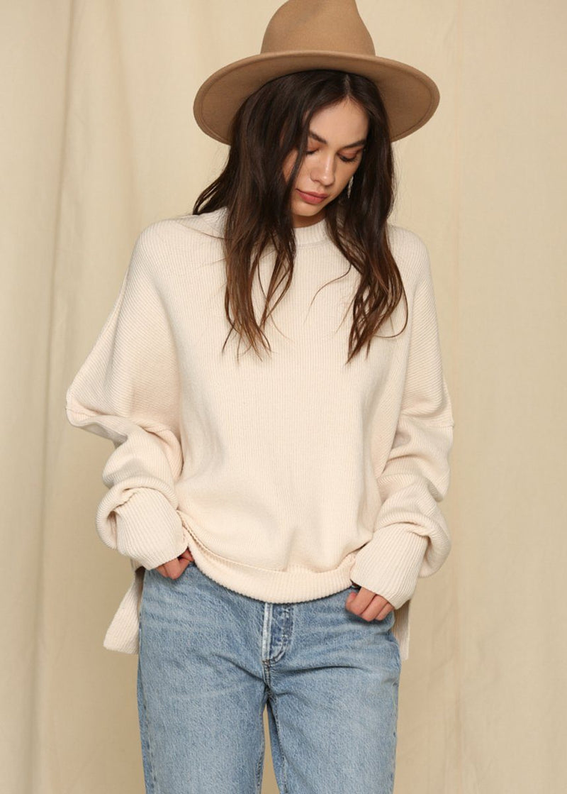 Oversized Crew Neck - Natural