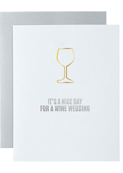 Nice Day for a Wine Wedding Card