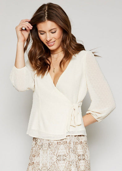 Notting Hill Wrap Top - Cream