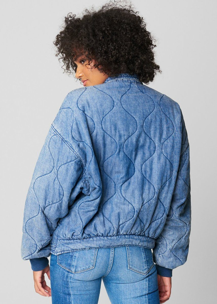 Tencel Drop Shoulder Quilted Jacket - Sun Bleached