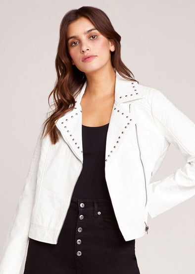 Tough Cookie Vegan Leather Jacket - Off White