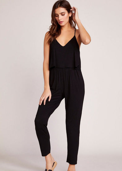 One And Done Black Jumpsuit