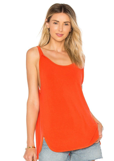 Curved Hem Swing Tank - Orange