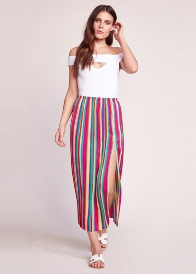 Outside The Lines Pleated Skirt