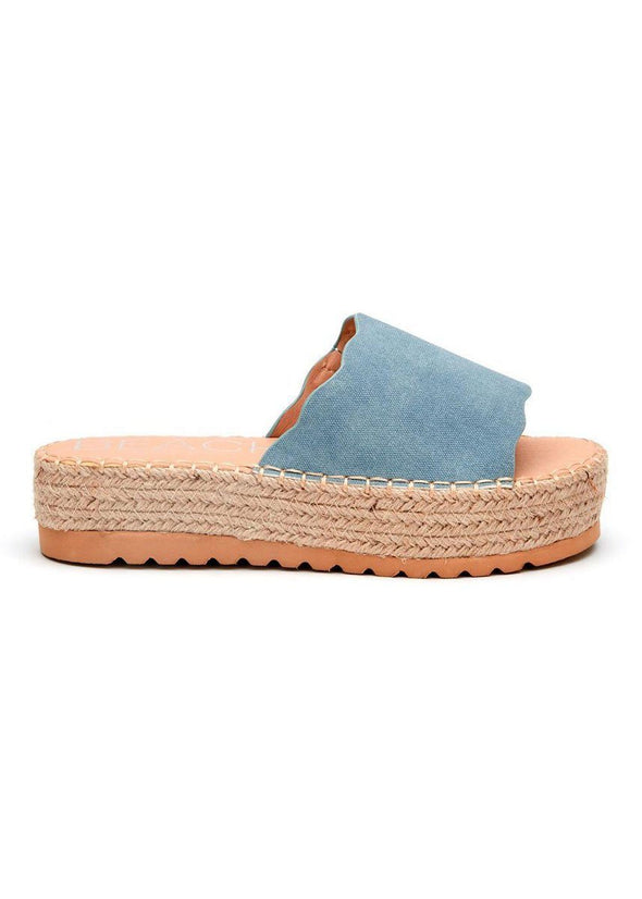 Palm Platform Sandal - Blue
