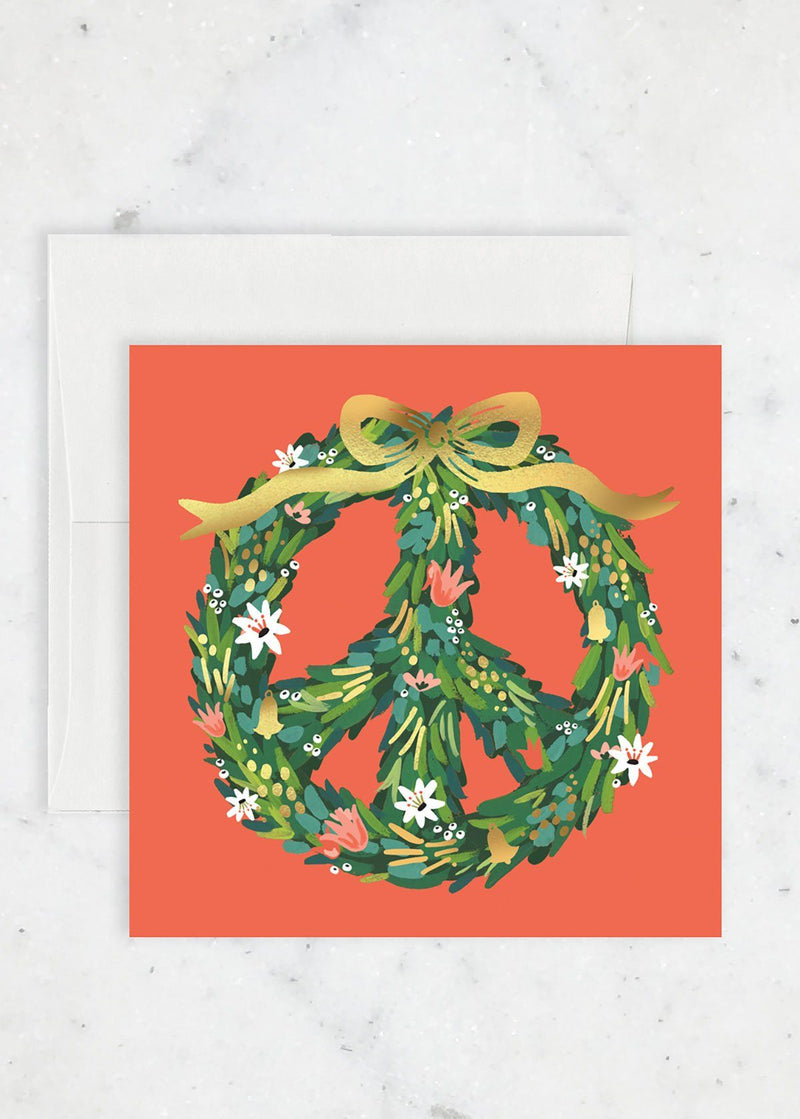 Peace Wreath Holiday Card