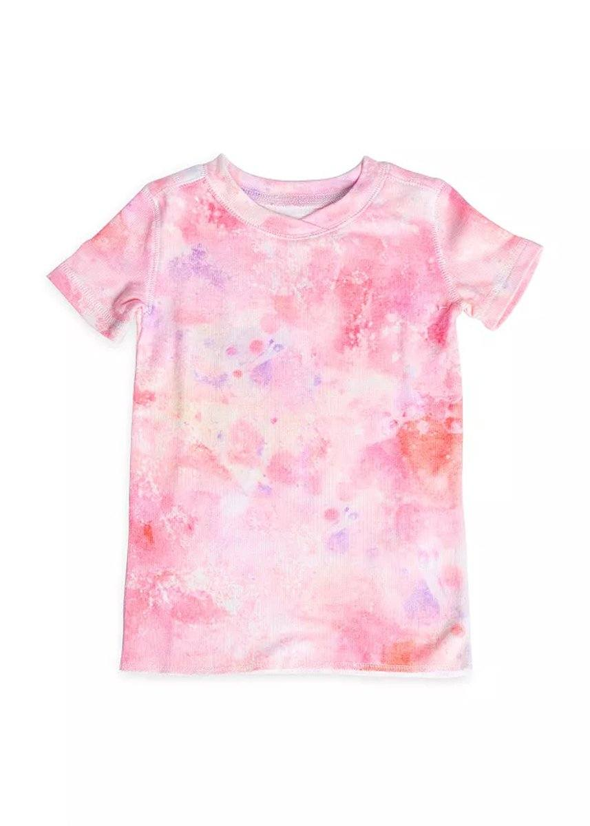 Kids Tie Dye Lounge Set - Coral