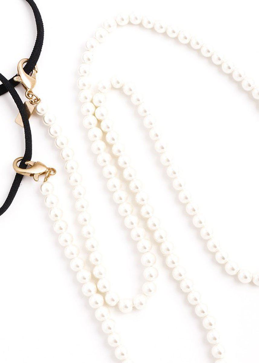 Solid Faux Pearl Mask Chain