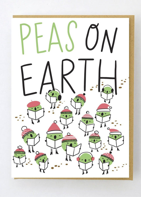 Peas On Earth Card