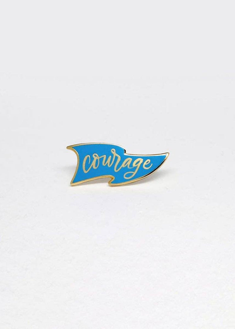 Courage Pennant Enamel Pin