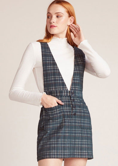 Plaid Influence Hunter Green Pinafore