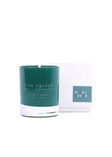 Statement Candle - Pine & Suede 7oz