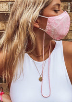 Pink Bead Mask Chain