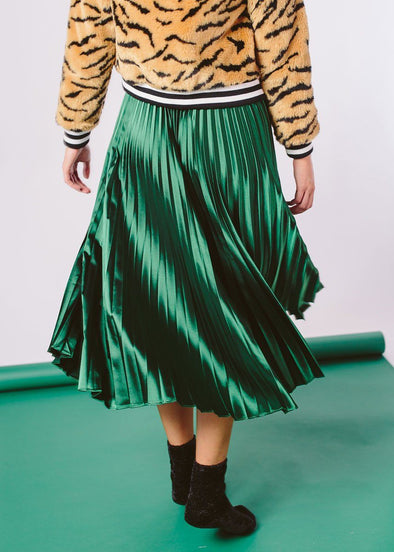 Emerald City Pleated Skirt