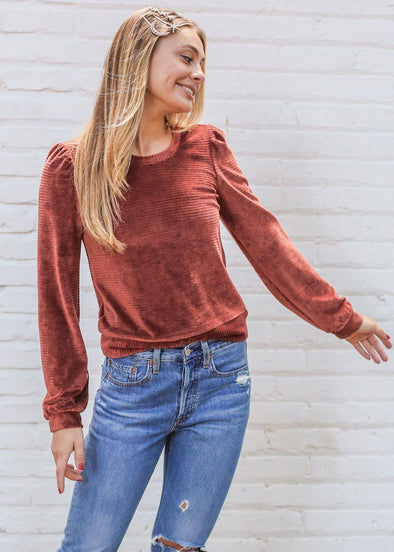 Allie Terracotta Sweater