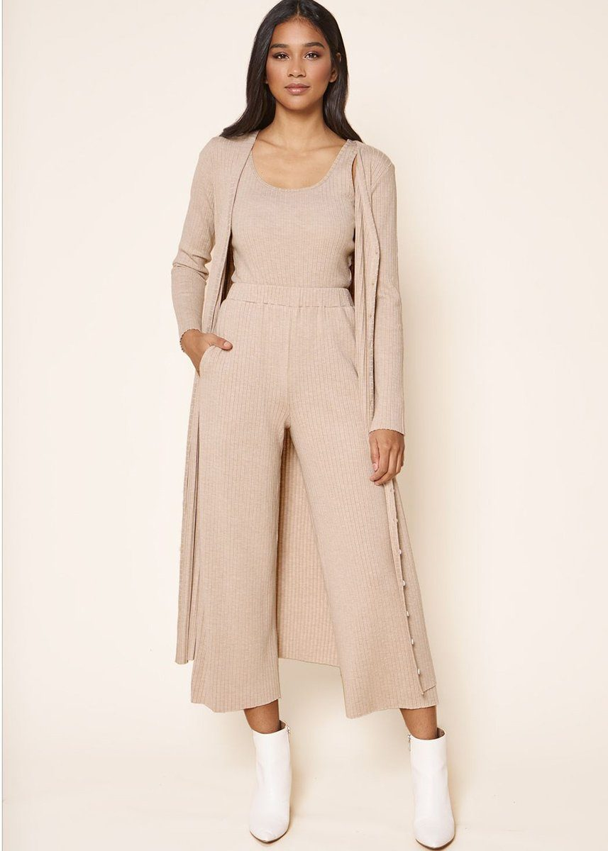 Provence Ribbed Knit Midi Cardi Dress
