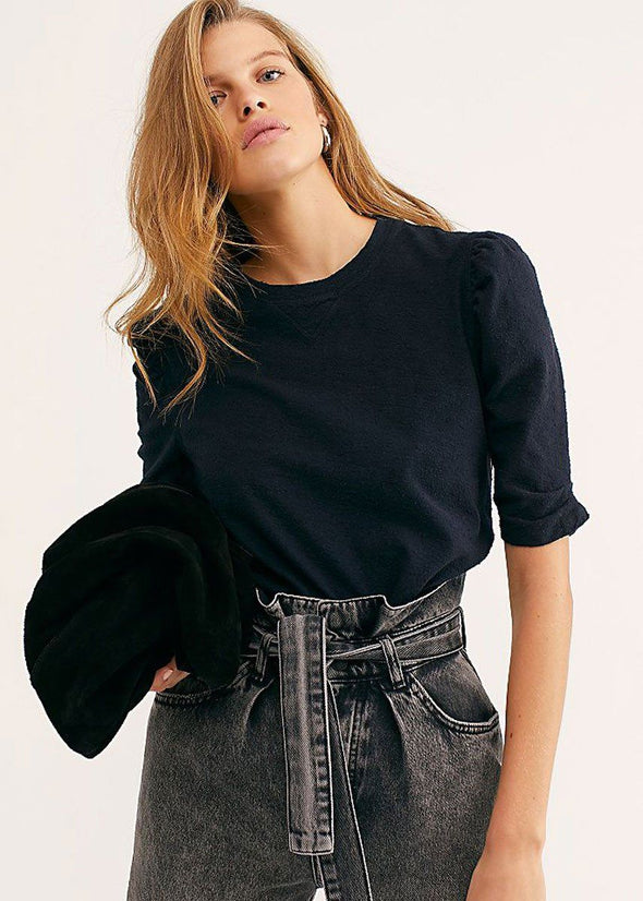 Just A Puff Top - Washed Black