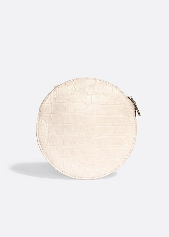 Phoebe Crossbody - White Croc
