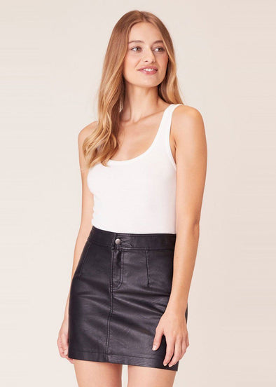 Good Girl Gone Rad Vegan Leather Skirt
