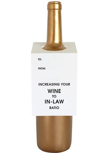 Wine to In-Law Ratio Wine Tag