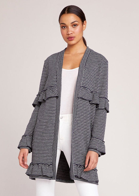 Ready To Ruffle Jacquard Coat