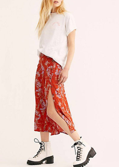 Retro Love Midi Skirt