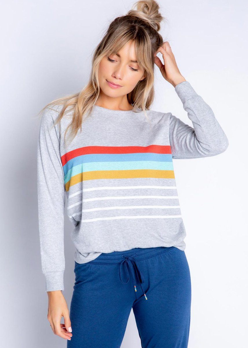 Retro Long Sleeve Top