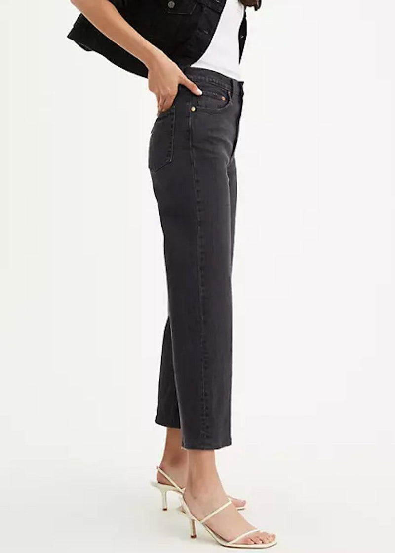 Levi's Ribcage Straight Ankle - Feelin' Cagey Black