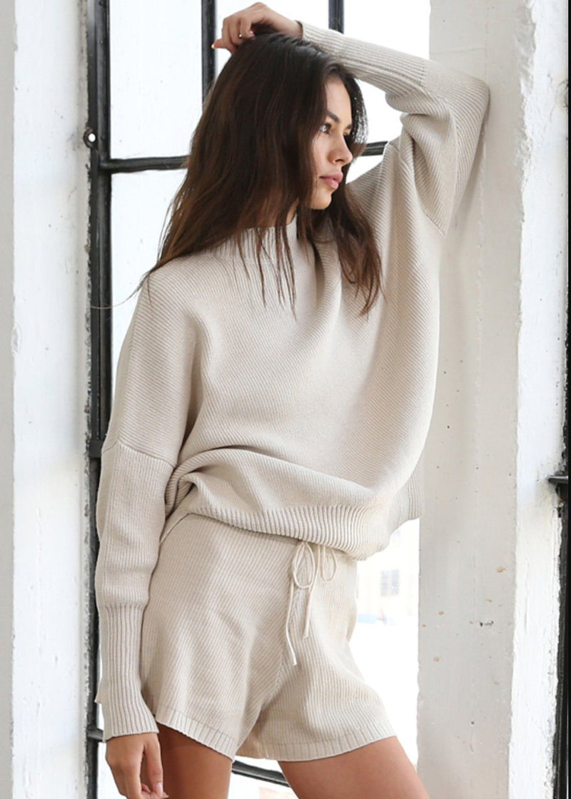 Paige Knit Sweater - Beige