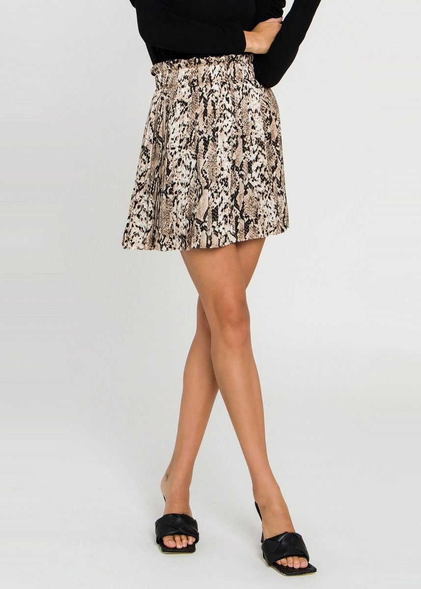 Rippley Snakeskin Mini Skirt