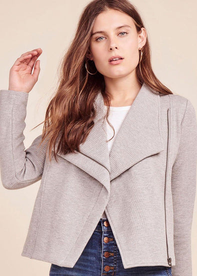 On The Road Heather Grey Jacket