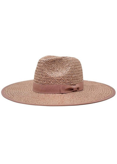 Emma Straw Rancher Hat - Rose