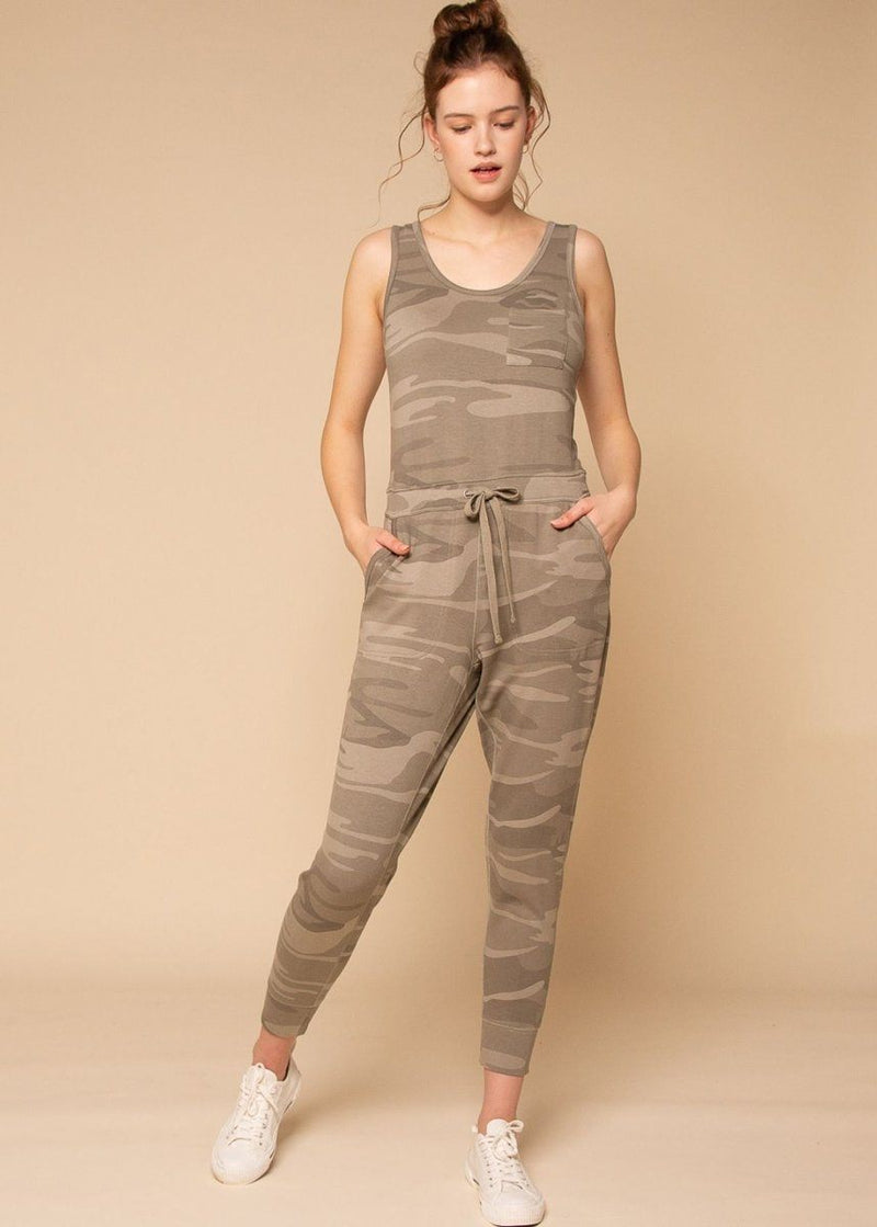 Perry Jumpsuit - Sage Camo