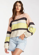 Seeing Stripes Sweater - Lemongrass