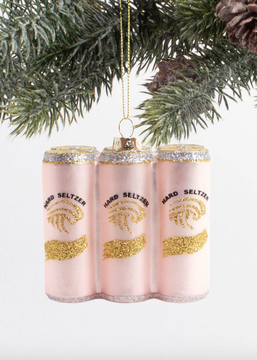 Seltzer 6 Pack Ornament