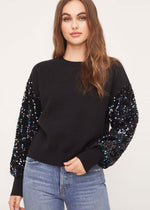 Sequin Black Sweater