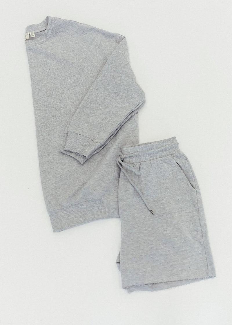 Brinny Athletic Short Set - Grey