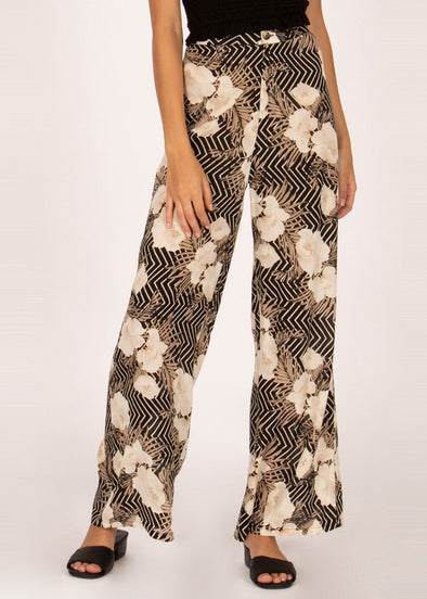 Shady Shack High Waisted Pant - Black Sands